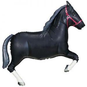 "42"" Black Horse Supershape Foil Balloon"
