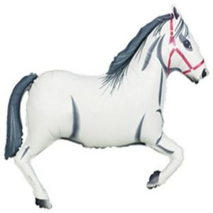 "42"" White Horse Supershape Foil Balloon"