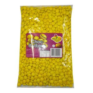 Yellow Chocolate Buttons - Bulk 1kg
