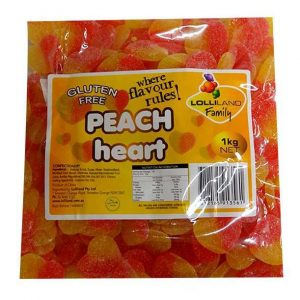 Peach Sour Hearts - Bulk 1kg