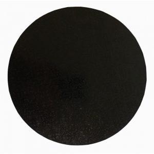 "18"" Black Round Masonite Cake Boards - Bulk 10 Pack"