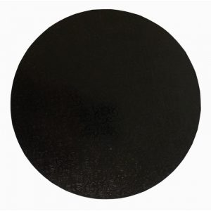 "17"" Black Round Masonite Cake Boards"