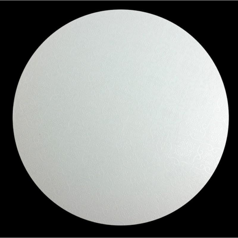"15"" White Round Masonite Cake Boards"