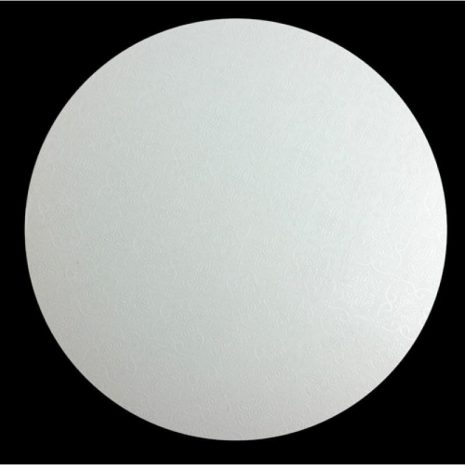 "11"" White Round Masonite Cake Boards"