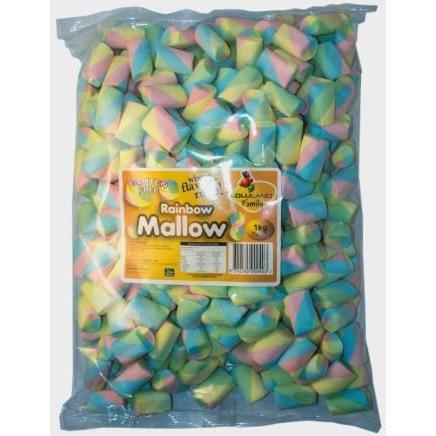 Rainbow Marshmallows - Bulk 1kg