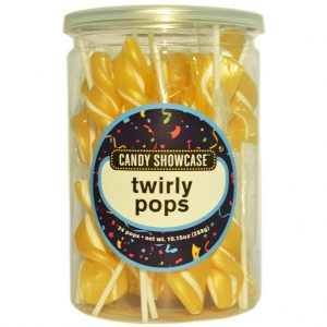 Gold Twirly Lollipops - 24 Pack