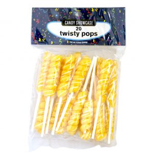 Gold Twisty Lollipops - 20 Pack