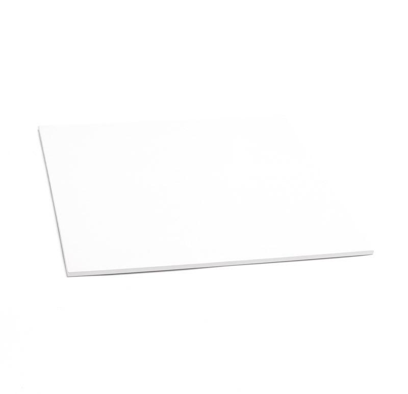 "14"" White Square Masonite Cake Boards - Bulk 10 Pack"