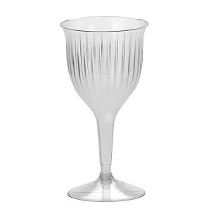 Disposable Premium Wine Goblets 150ml Cups Clear Long Stem