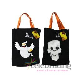 1 x Halloween Party Ghost or Skull Tote Bags Assorted