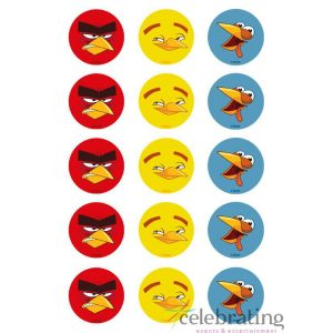 Angry Birds Cupcake Edible Images 15pk