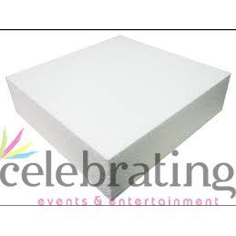 Bulk 19 Inch Square Polystyrene Dummy Cake Foams 4 Inch High Styrofoam 10 pack