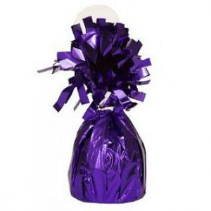Balloon Weights Foil Purple