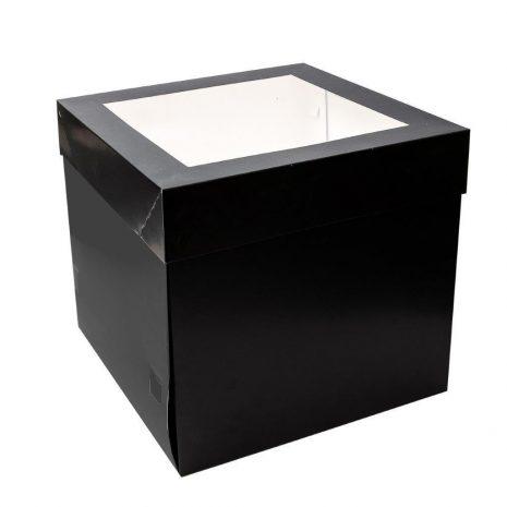 """12""""x12""""x12"""" Black Cake Box"""