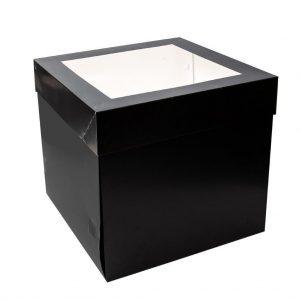 """10""""x10""""x10"""" Black Cake Box"""