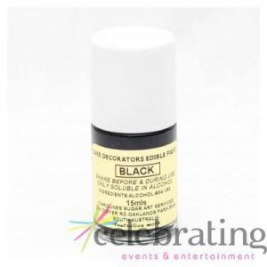 Cake Decorators Black Edible Paint 15ml