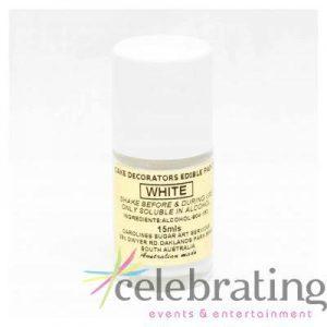 Cake Decorators White Edible Paint 15ml