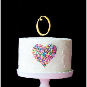 GOLD Cake Topper (7cm) - LETTER O