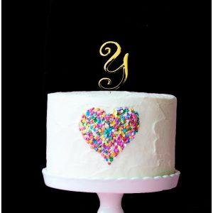 GOLD Cake Topper (7cm) - LETTER Y