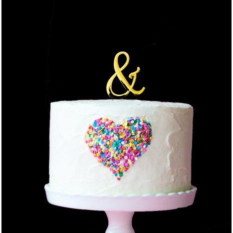 GOLD Cake Topper (7cm) - SYMBOL &