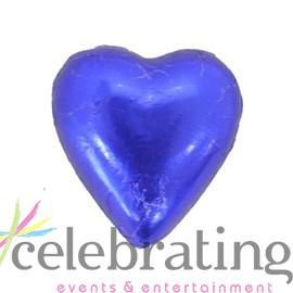 Milk Dark Blue Chocolate Hearts 1kg 120 pieces