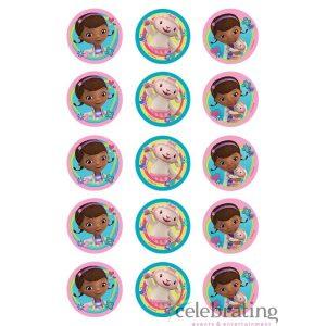 Doc McStuffins Cupcake Edible Images 15pk