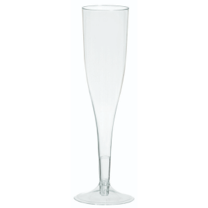 Champagne Flute 5.5oz/162ml Clear - 8 Pack