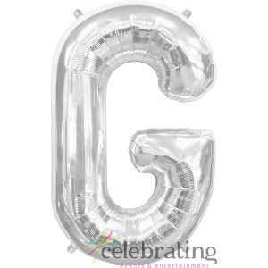 14in Silver Letter G Air-fill Foil Balloon