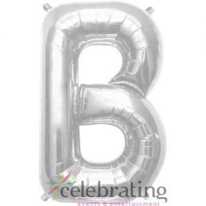 14in Silver Letter B Air-fill Foil Balloon