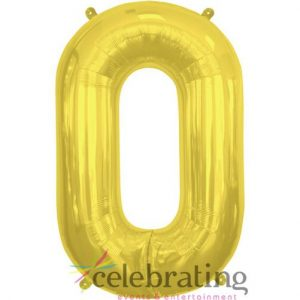 14in Gold Letter O Air-fill Foil Balloon
