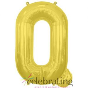 14in Gold Letter Q Air-fill Foil Balloon