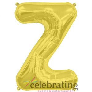 14in Gold Letter Z Air-fill Foil Balloon