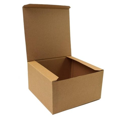 "12"" Brown Pop Up Cake Box - Bulk 25 Pack"
