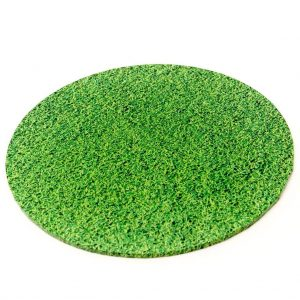 "14"" Grass Round Masonite Cake Boards"