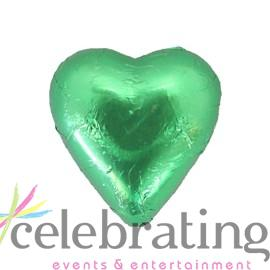 Milk Green Chocolate Hearts 1kg 120 pieces