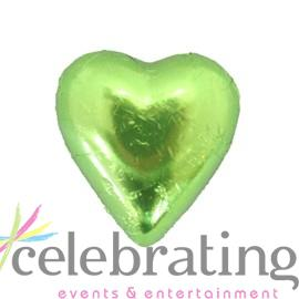 Milk Lime Green Chocolate Hearts 1kg 120 pieces