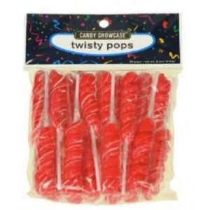 Red Twisty Lollipops - 20 Pack
