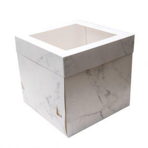 "10""x10""x10"" Marble Cake Box - Bulk 10 Pack"
