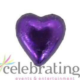 Milk Purple Chocolate Hearts 1kg 120 pieces
