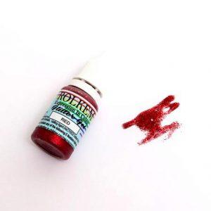 Rolkem Glitter Gel Red 15ml