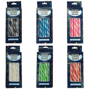 Silver Candy Sticks - 25 Pack