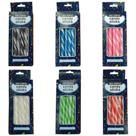 Rainbow Candy Sticks - 25 Pack