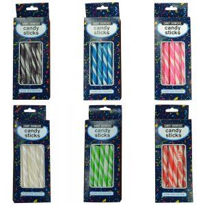 Black Candy Sticks - 25 Pack