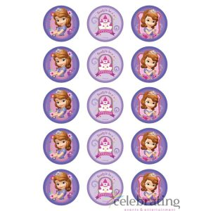 Sofia the First Cupcake Edible Images 15pk