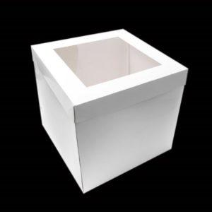 "14""x14""x12"" White Cake Box"