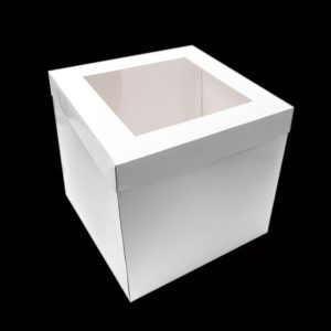 "8""x8""x10"" White Cake Box"