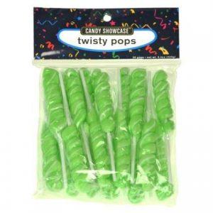 Green Twisty Lollipops - 20 Pack