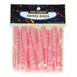 Pink Twisty Lollipops - 20 Pack