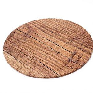 """12"""" Wood Round Masonite Cake Boards - Bulk 5 Pack"""
