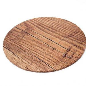 "12"" Wood Round Masonite Cake Boards"